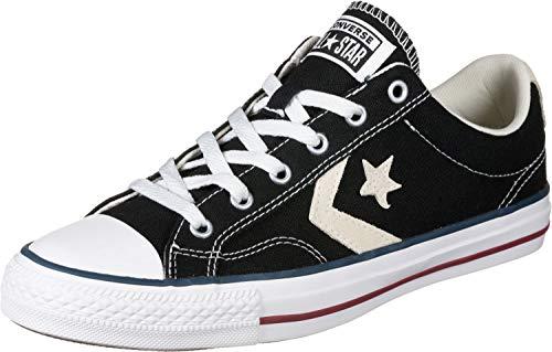 Converse Lifestyle Star Player Ox Canvas, Zapatillas de Deporte Unisex Adulto, Negro Black Milk 009, 36 EU