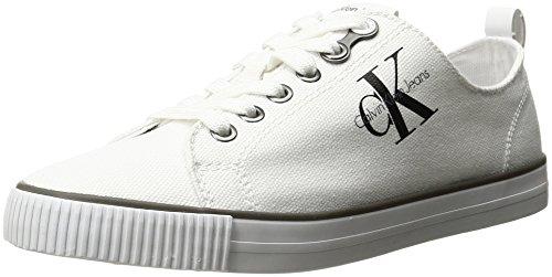 Calvin Klein Jeans Dora Canvas, Scarpe da Ginnastica Basse Donna, Bianco (White), 35 EU