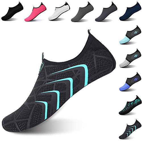 L-RUN Womens Water Sports Shoes Quick Drying Sock Black S(W:4.5-5.5)=EU35-36