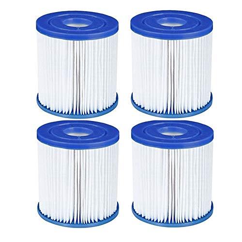 NJYBF Filterpatronen für Pool, für Bestway I Filter, Spa Ersatz Aufblasbarer Poolreinigungsfilter Zubehör, Filterkartuschen Kartuschenfilter Papier. (4 PCS)