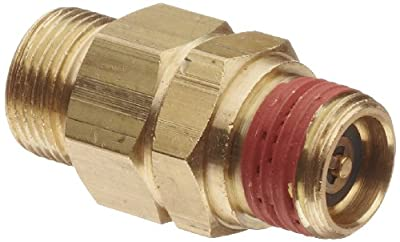 """Control Devices Brass Load Genie Unloading Check Valve, 1/2"""" Tube Comp. x 3/8"""" NPT Male by Control Devices"""