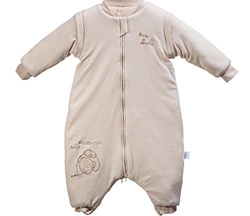 Kauftree Baby Kinder Schlafsack Winterschlafsack Außensack mit Beinen Schlafstrampler Abnehmbar Langarm Winter Cartoon (M 80cm, Bär)