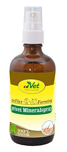 cdVet Naturprodukte privet Mineralspray 100 ml - Ziege, Schwein, Rind - Pflegemittel - juckende + schuppige + trockene Haut - glanzlosem Fell - Parasitenbefall - pflegt + beruhigt die Haut - Glanz -