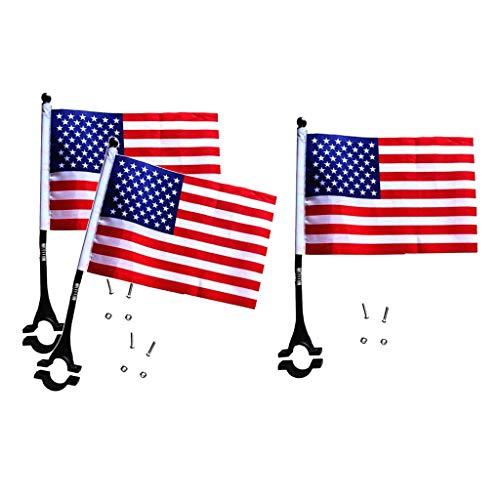 perfeclan 3 Banderas de Manillar Premium de EE. UU. Banderas Nacionales Francesas Alemanas para