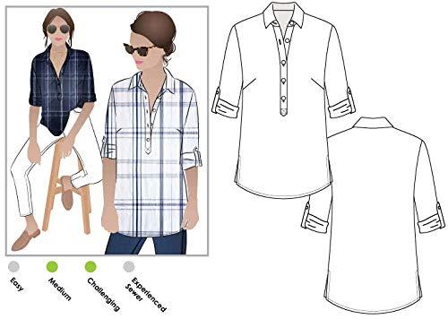 Style Arc naaipatroon - Lennie Overshirt Sizes 18-30