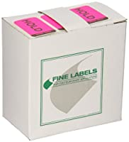 Roll Products 115-0018 Action Label, Legend Hold / Release, 1-1/2 Length x 1 Width, Fluorescent (Roll of 250) by Roll Products