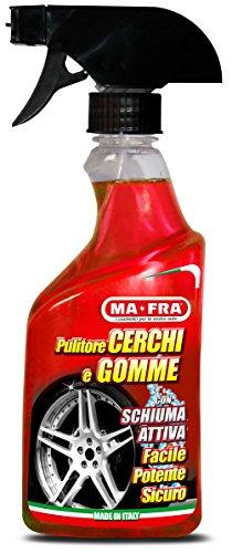 Mafra, Pulitore Cerchi e Gomme, Deterge e Sgrassa gli Pneumatici delle Auto, Utilizzabile con Schiuma o Senza Schiuma, Formato 500ml