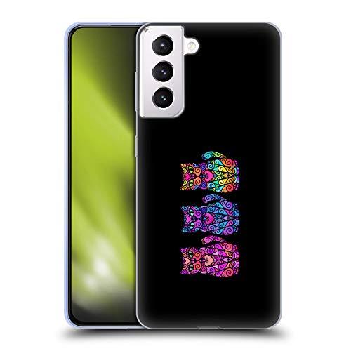 Head Case Designs Licenza Ufficiale Beth Wilson Trios Gatti A Spirale Cover in Morbido Gel Compatibile con Samsung Galaxy S21+ 5G