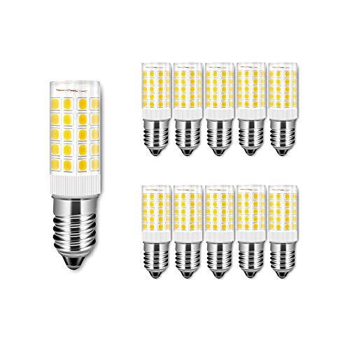 ENGEYA 10er Pack 5W E14 LED Birnen,SMD 2835 5 Watt Mais Leuchtmittel,Warmweiß 3000K AC 220-240V 500 Lumen,Energiesparlampe,ersetzt 50W Glühlampenl,Nicht Dimmbar