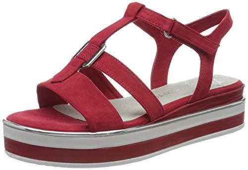 MARCO TOZZI 2-2-28726-24, Sandali con Cinturino alla Caviglia Donna, Rosso (Red 500), 39 EU
