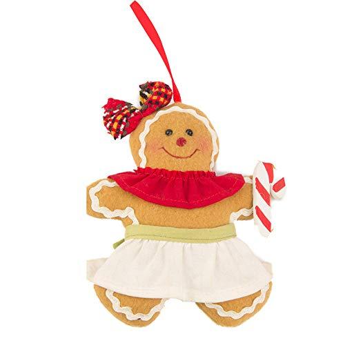 Amphia - Weihnachtsbaum hängen Lebkuchenmann Ornamente Puppe Xmas Home Hang Anhänger,Weihnachtsanhänger Lebkuchenmann
