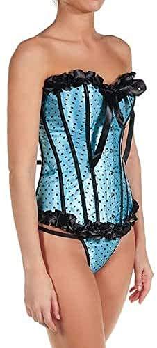 Intimax corsets lencería y moda C061M Corsé, Azul (Azul), 36 (Tamaño del Fabricante:M) para Mujer (Ropa)
