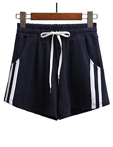 Mulanda Pantaloncini Sportivi Donna,Cotone Shorts Casual per Sportivi,Corsa,Fitness