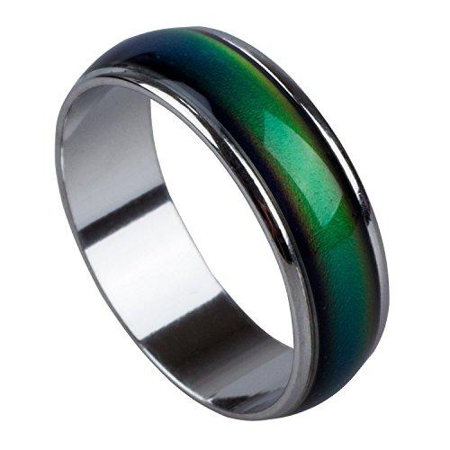 TOOGOO(R) Emocion sentimiento anillo de color cambiante de la aleacion animo tamano ee.uu. 7 1/2