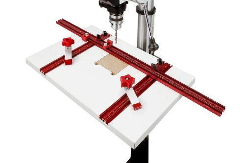 Woodpeckers WPDPPACK1 Drill Press Table with 2 Hold Down Clamps