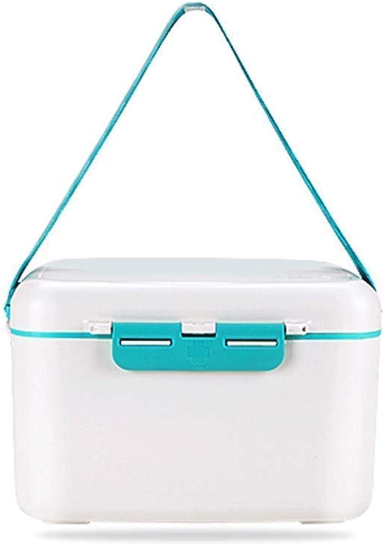 First Aid Kit,Portable Multi-Function Medicine Box Household Medicine Storage Box(White)