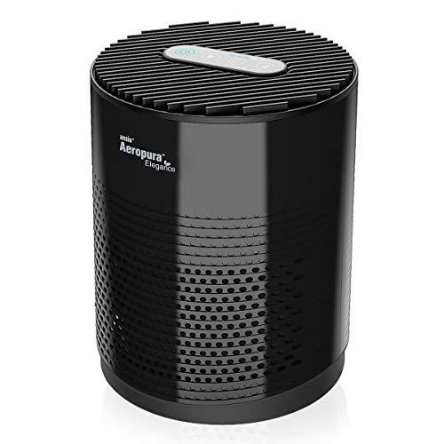 ANSIO Luftreiniger mit True HEPA Filter, Aktivkohlefilter CADR 68 m³/ h mit Nachtlicht, 3-Stufen-Filterung, gegen Staub und Haustier-Allergene, für Allergiker, Raucher, Asthma