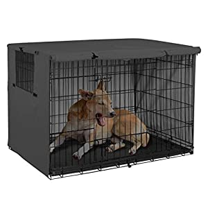 Explore Land Dog Crate Cover Durable – Polyester Pet Kennel Cover Universal Fit for 24-48 inches Wire Dog Crate