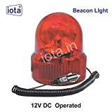 iotaBL162 12V DC Industrial Revolving Warning and Rotate Light Signal Tower Lamp (RED)