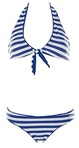 Shiwi Damen Neckholder Triangel Bikini Blau 34