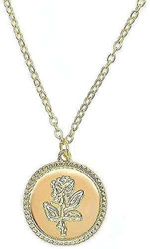 Collar Jewelry Colliers Gold Rose Declaración Colgante Collar Mujeres S La Bella Y La Bestia Joyería Suéter Cadena Pareja Regalo Collar Colgante Regalo Para Mujeres Hombres Niñas Niños