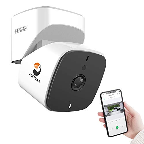 Alcidae Garager 2, Remotely Monitor and Control Garage Door Opener Through Phone, Share Access with Family, Alexa, Google Voice Commands, Smart Alerts & 2 Way Audio, 1080P Clear Image, Night Vision