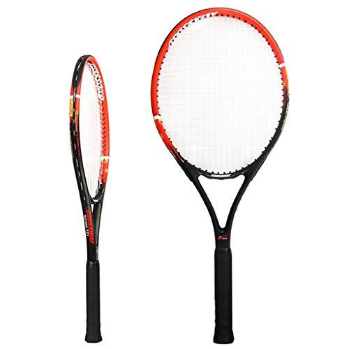 Raquetas De Tenis Para Hombres Y Mujeres Dobles, Juego para Principiantes Compuesto De Carbono (Color : Black, Size : 69cm 27 Inches)
