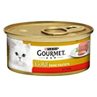 Gourmet Gold Pâté Mega Pack Complete Wet Cat Food Recipes For A Balanced and Healthy Diet - Beef, 48...