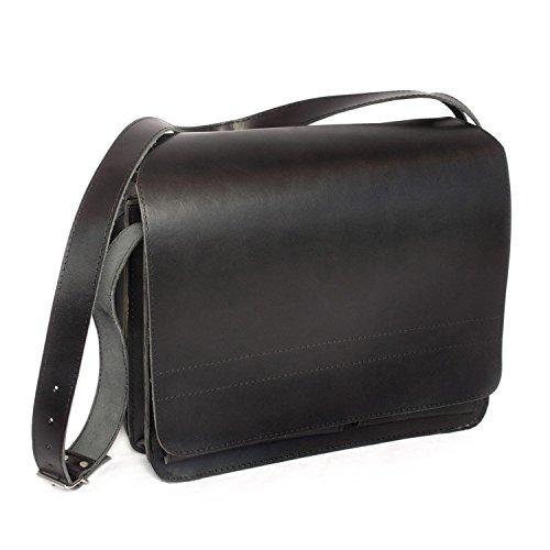 Große Aktentasche Lehrertasche Größe XL aus Leder, für Damen und Herren, Schwarz, Jahn-Tasche 675