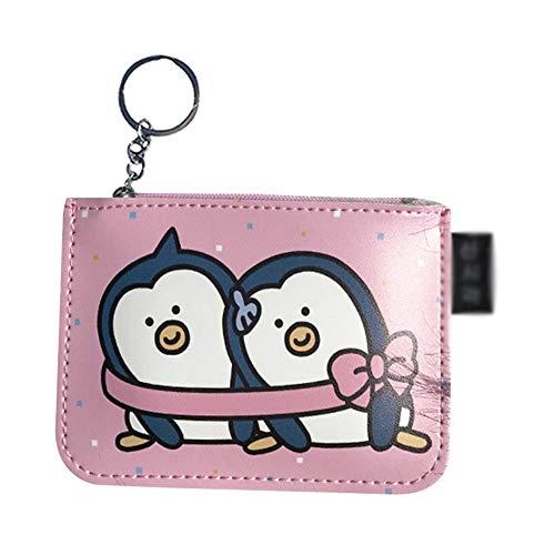 Vi.yo. Pingouin Portefeuille Rangement Sac De Maquillage Rouge à Lèvres Clé Sac Carte Bancaire La Trompette PU