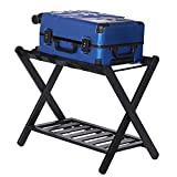GenericBrands Folding Luggage Rack, Ror Guest Room, Double-Layer Luggage Rack, Easy to Assemble for use in bedrooms, Guest Rooms, Hotels(Updated)