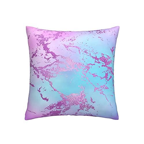 RETRUA Fundas de cojín de mármol de acuarela color rosa púrpura para decoración del hogar para sala de estar, dormitorio, sofá silla de 45 x 45 cm