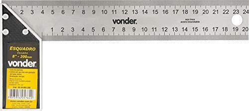 Esquadro Para Carpinteiro, Com Cabo De Alumínio Vonder 8'