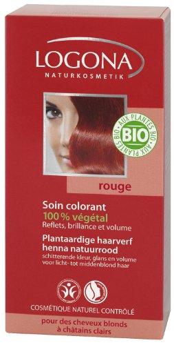 Logona - 1009rou - Soins Colorants - Rouge - 100 g