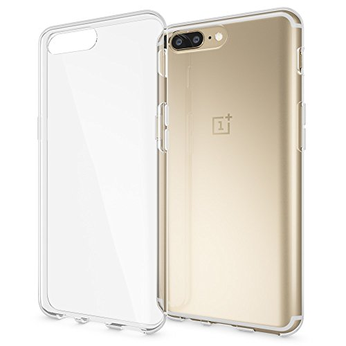 NALIA Handyhülle kompatibel mit OnePlus 5, Ultra-Slim Soft TPU Silikon Hülle Cover, Crystal Clear Schutzhülle Dünn Durchsichtig, Etui Handy-Tasche Backcover Skin Smart-Phone Hülle Bumper - Transparent