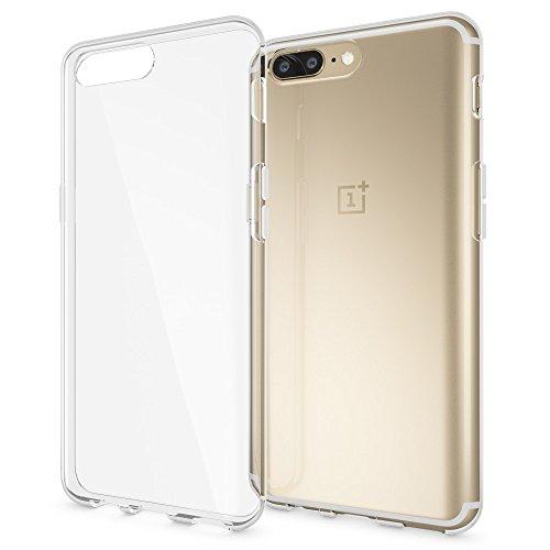 NALIA Handyhülle kompatibel mit OnePlus 5, Ultra-Slim Soft TPU Silikon Case Cover, Crystal Clear Schutzhülle Dünn Durchsichtig, Etui Handy-Tasche Backcover Skin Smart-Phone Hülle Bumper - Transparent