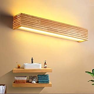 HBVAN Applique Murale LED Appliques Luminaire Intérieur Bois Lampe de Mur lumière chaude Lampe pour Chambre Salon Bureau C...