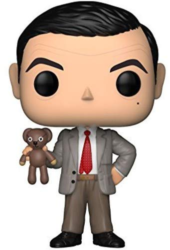 Funko- Pop Television: Mr. Bean Mr.Bean Figurina, Multicolore, 9 cm, 24495
