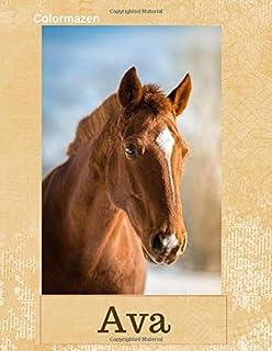 Ava: Chestnut Horse Personalised Notebook (Large) (Chestnut Horse Personalised Notebooks)