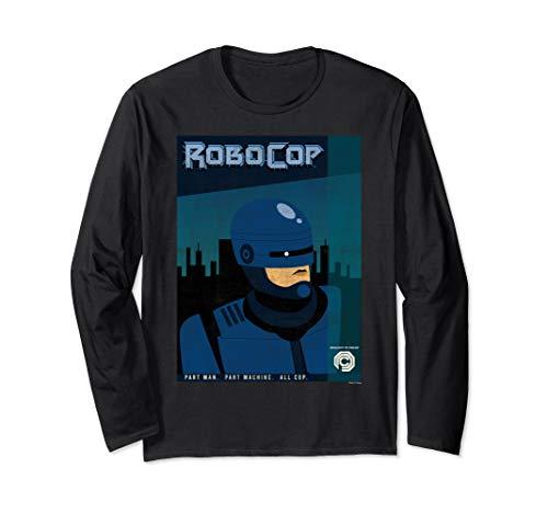 Official RoboCop Stylized Cartoon Poster Long Sleeve T-Shirt, Unisex Adults