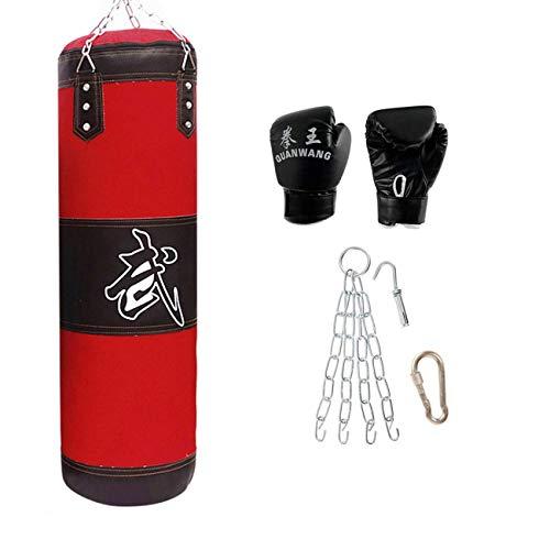 XHLLX Boxsäcke, Schwerer Gefüllter Boxsack Für Erwachsene Mit Hängender Kette, Verband, Handschuhsandsack, Zum Boxen Muay Thai MMA Kickboxen Karate & Taekwondo