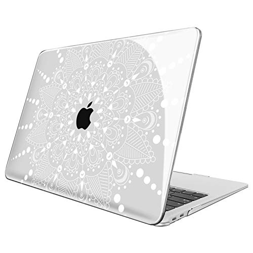 FINTIE Case for MacBook Air 13 Inch (2020 & 2019 & 2018 Release) A2179 / A1932 - Protective Snap On Hard Shell Cover for New MacBook Air 13 Retina Display with Touch ID, Floral White