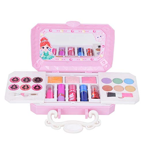Kids Makeup Kit, tragbares wasserlösliches Mädchen Pretend Makeup Toys Kosmetik Make-up Set mit...
