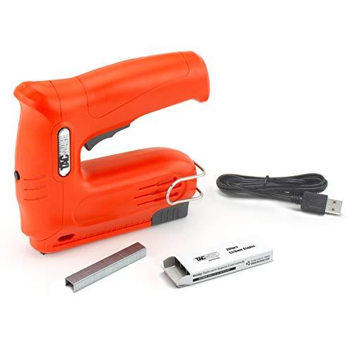 Tacwise 1563 Hobby 53-13EL Pistolet agrafeur cloueur sans Fil avec Batterie 4V Lithium-ION intégrée et 200 agrafes