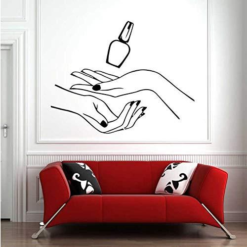 Nagellak Vinyl Muursticker Home Decor Salon Shop Eenvoudige Trend Stijl Behang Muur in Rollen Art muurschildering 42x53cm