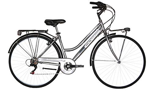 Coppi 28 Zoll Cityrad Damen Beverly 6 Gänge Silber 43 cm Rahmengröße