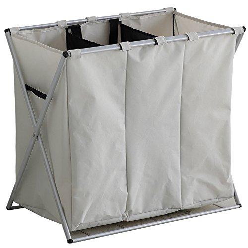 ルームアンドホーム ゴミ箱 収納ボックス 分別 3分タイプ ウノ アイボリー 61×37×57cm