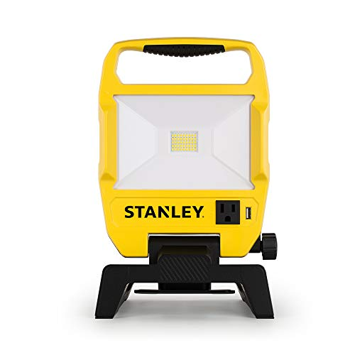 Stanley 3500-Lumen LED Work Light Provides Ample Lighting with its Long-lasting Integrated LED 4000K...