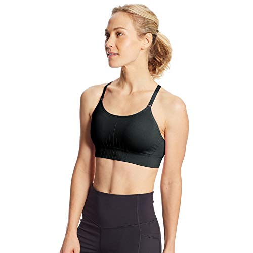 C9 Champion Women's Medium Support Seamless Cami Bra, Ebony, L