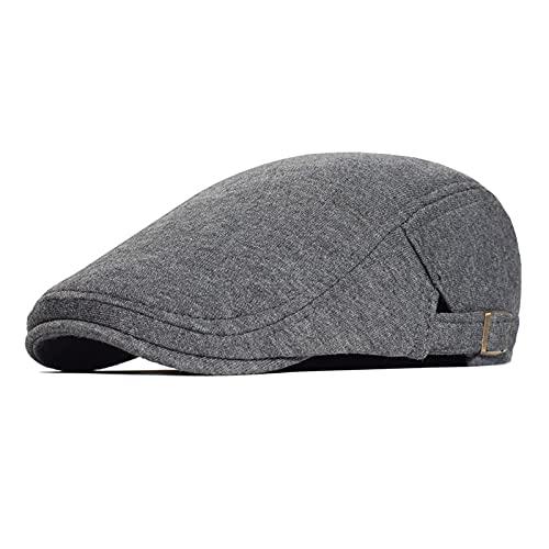 YISLWHUO Berets Cotton Adjustable Newsboy Caps Men Woman Casual Beret (Color : Dark Grey, Hat Size : Adjustable 56-60 cm)